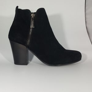 The Flexx Black Suede Ankle Boot with High Heel
